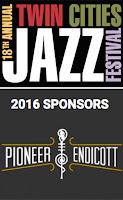 Twin Cities Jazz Festival Pioneer Endicott sponsor logo