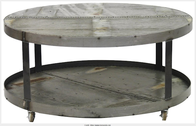 Top Round Metal Coffee Table 2017