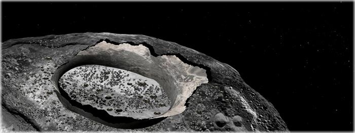 Asteroide de ferro tem água em sua superfície