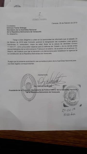 Guaidó designa nuevo procurador para Venezuela