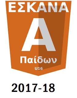 Η κλήρωση της Α΄ παίδων  2017-18