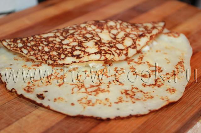 рецепт блинчиков с творогом с пошаговыми фото