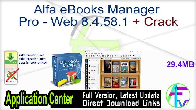Alfa eBooks Manager Pro – Web 8.4.58.1 + Crack