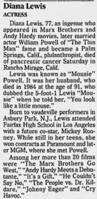 Diana Lewis Obituary