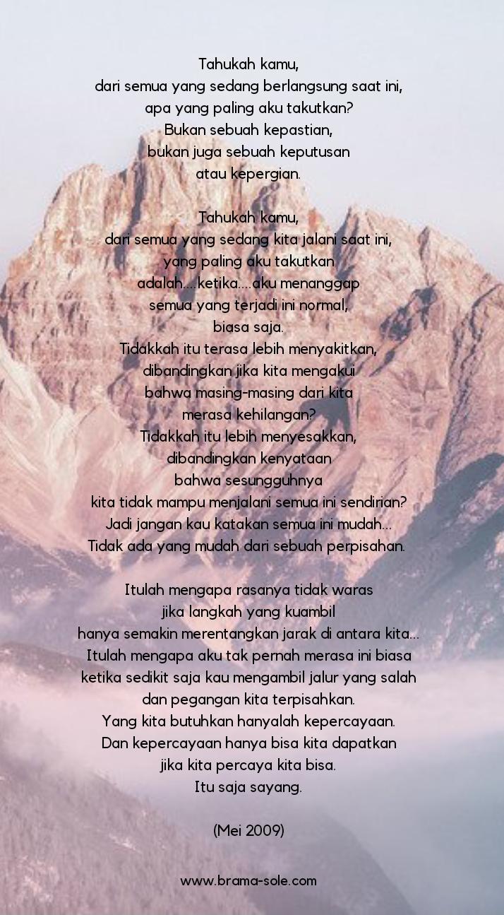 Tahukah Kamu, Puisi Oleh Nia Nurdiansyah
