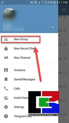cara membuat grup baru di telegram android