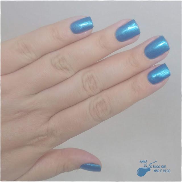 Rock Ana Hickmann Esmalte Azul Metalico Blue