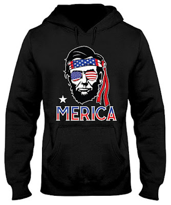 Abraham Lincoln Merica 4th of July 2018 Hoodie