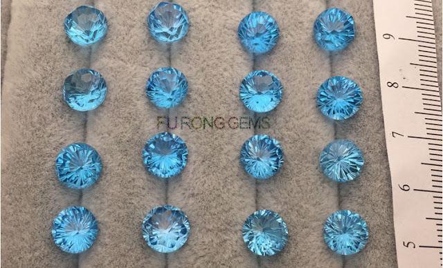 Swiss-blue-Natural-Topaz-Round-Firework-cut-Gemstones-China-wholesale