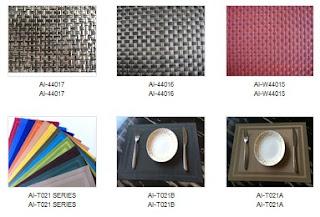 Vinyl woven placemat