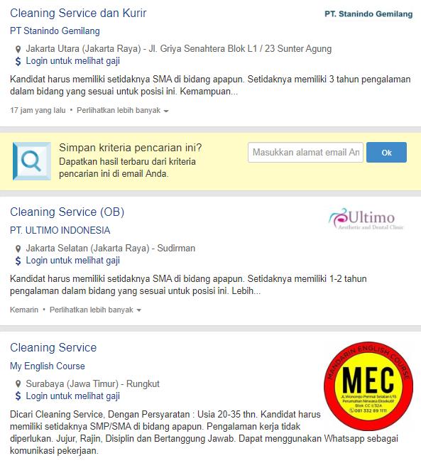 12 Lowongan Kerja Cleaning Service 2020 Job Fair Lowongan Kerja 2020 Lulusan Smk Lulusan Sma Smp