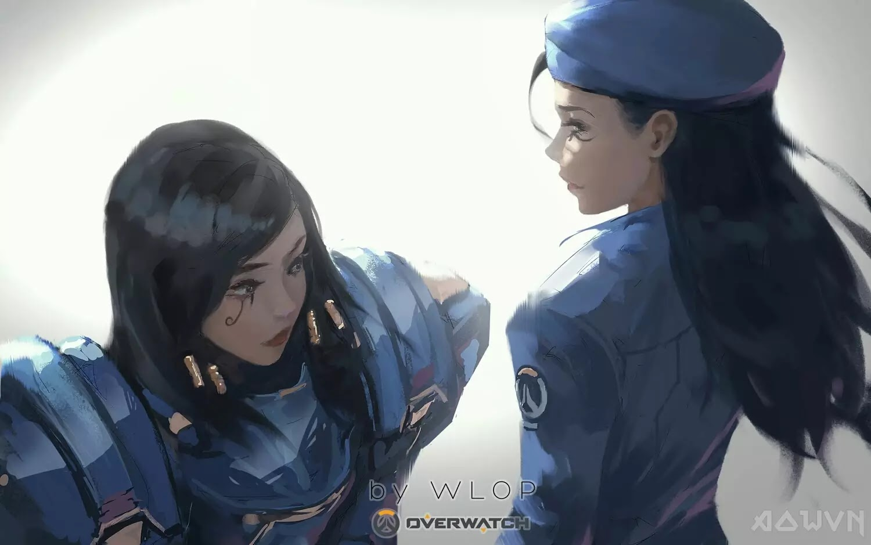 27 AowVN.org m - [ Hình Nền ] Anime Cực Đẹp by Wlop | Wallpaper Premium / Update