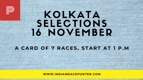 Kolkata Race Selections 16 November