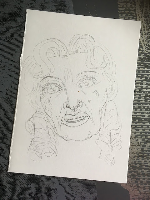 inktober 2019 bette david baby jane sketch
