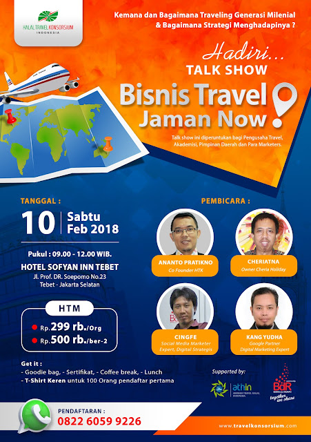 Talkshow Strategi Pemasaran Bisnis Travel Jaman Now