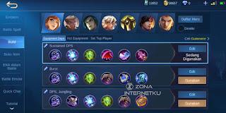 Emblem and build Guinevere Hurt Mobile Legends