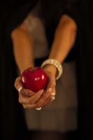 tentación, manzana, mujer