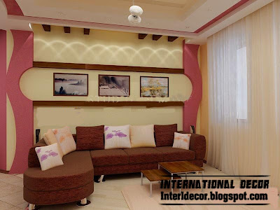 modern gypsum board wall interior design for living room