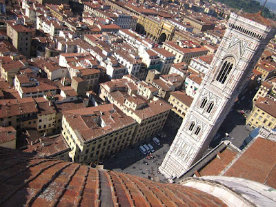 Campanile from the dome of the Duomo of Florence