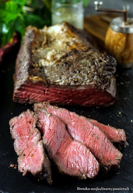 rostbef, wolowina, obiad, niska temperatura, wolnowarznie, wolne pieczenie, bernika, kulinarny pamietnik