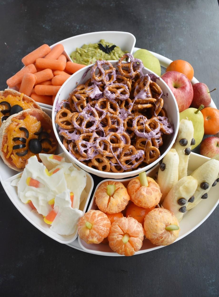 Healthier Halloween Snack Tray