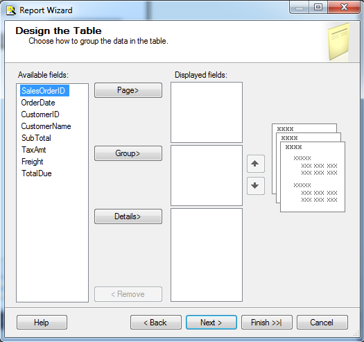 Design the Table