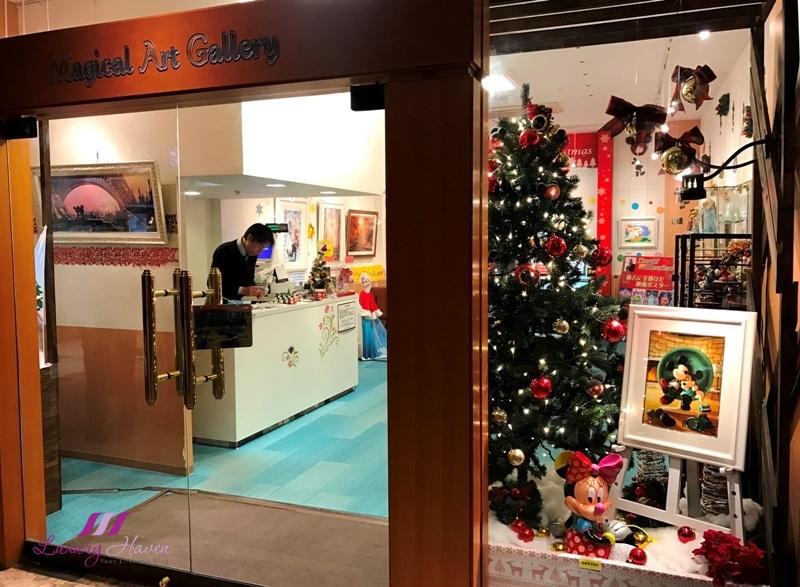 hilton tokyo bay disney magical art gallery