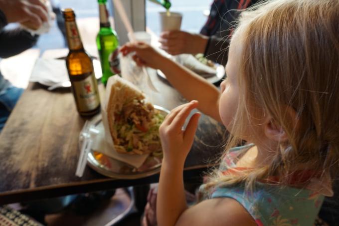 Berliinissä Döner maistuu myös lapsille