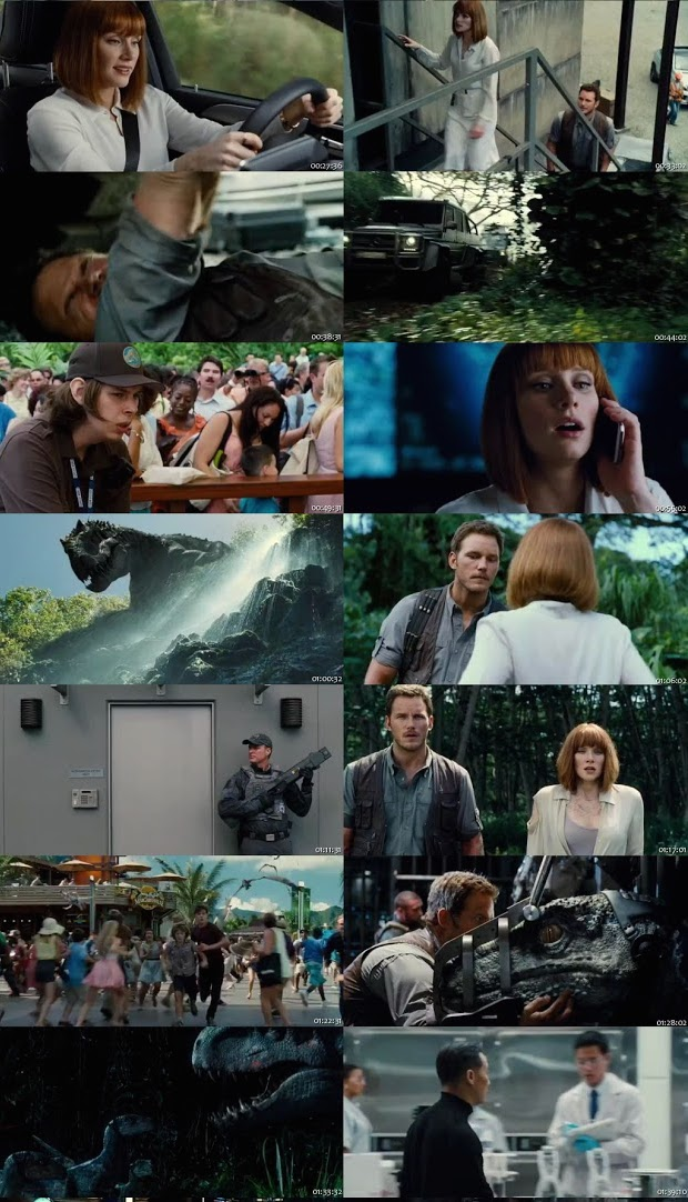 Jurassic World 2015 Dual Audio Hindi 480p HDRip ESub