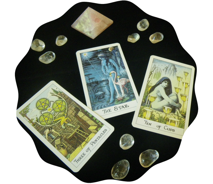 crystals and tarot
