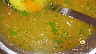 Supa de pui cu taietei - etapa 4