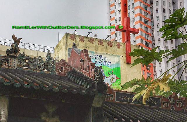 Aberdeen Baptist Church and Tin Hau Temple, Aberdeen, Hong Kong