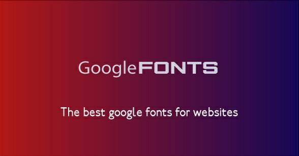 google fonts for blogger
