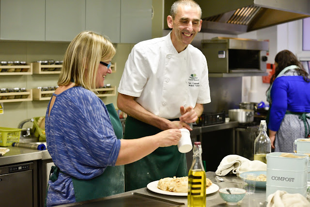 Alex Connell, the principal tutor of the Vegetarian Society Cookery School