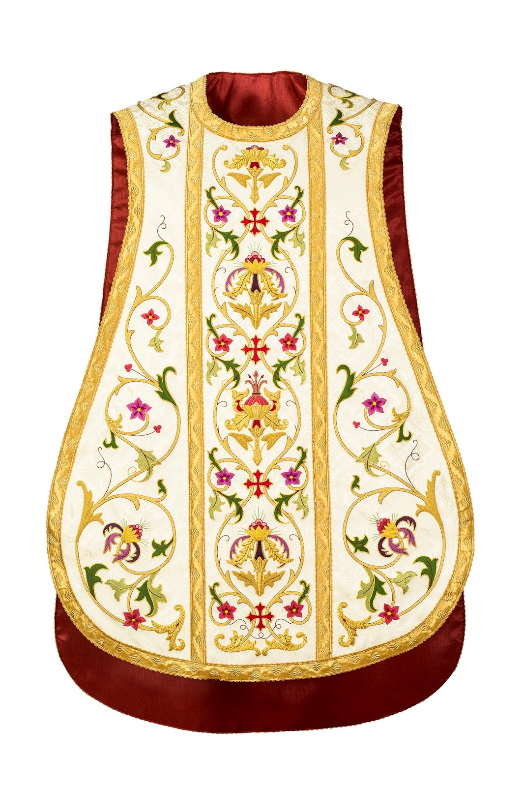Crimson and Gold: Roman Chasuble in a Spanish Manner