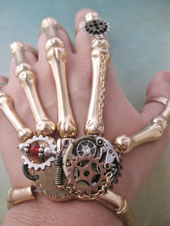Steampunk Inspired Hand Jewelry