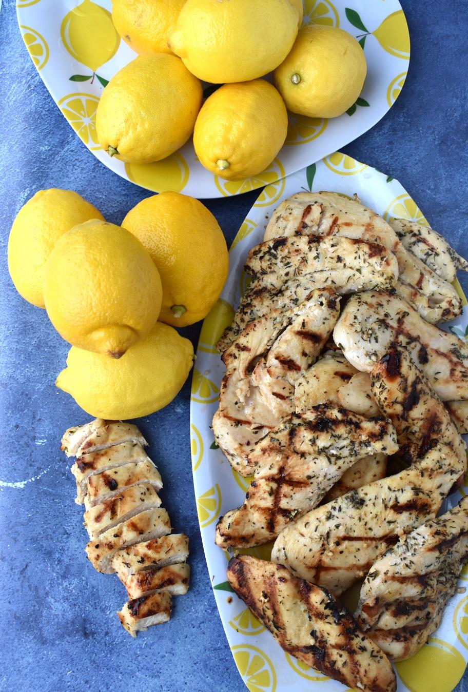 Greek Lemon Grilled Chicken
