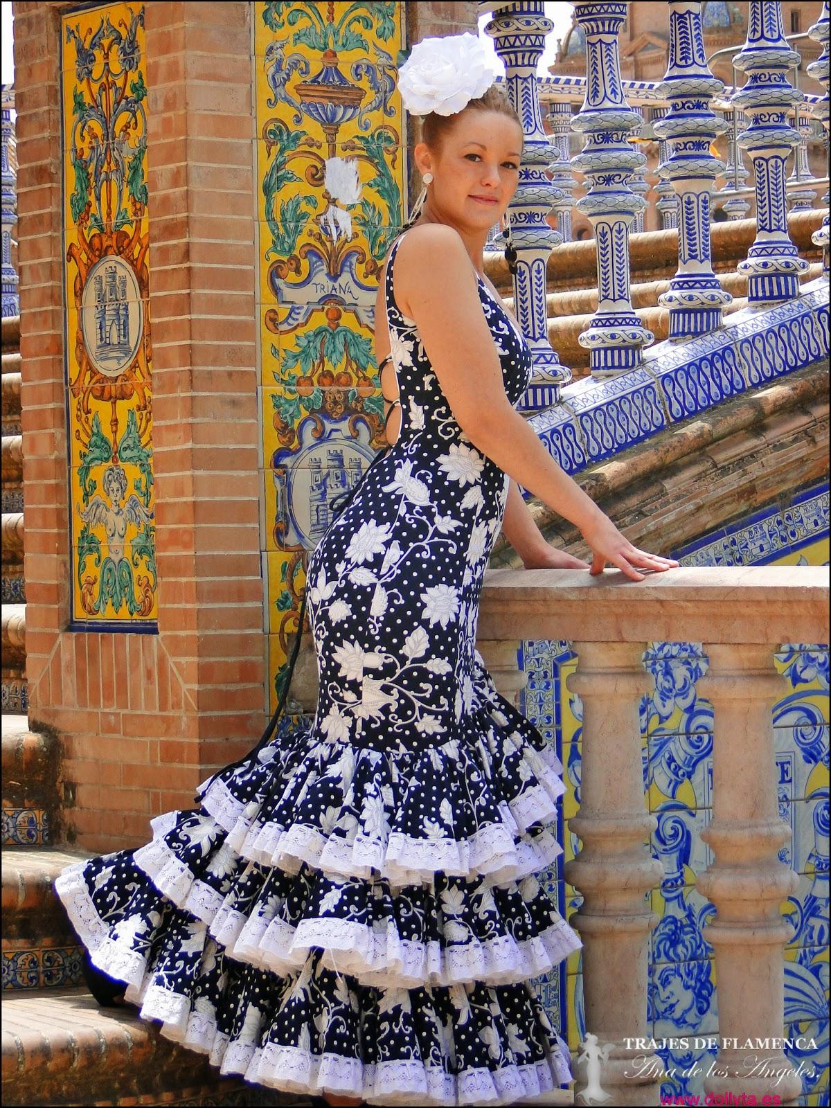Traje de flamenca negro