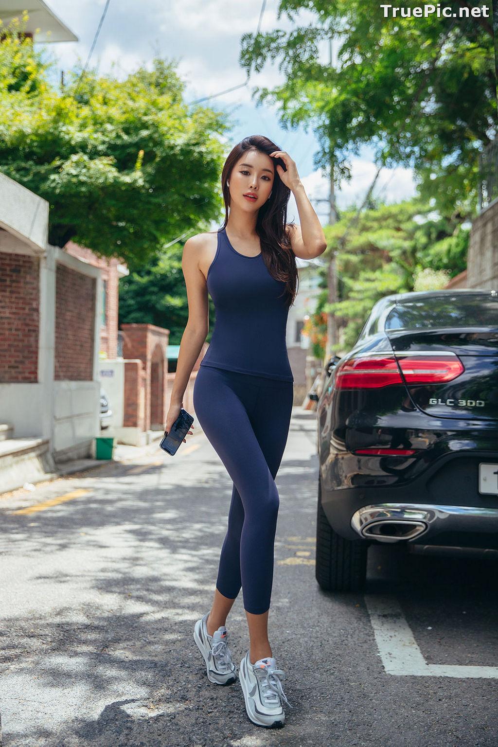 Image Korean Fashion Model - Park Da Hyun - Navy Sportswear - TruePic.net - Picture-9