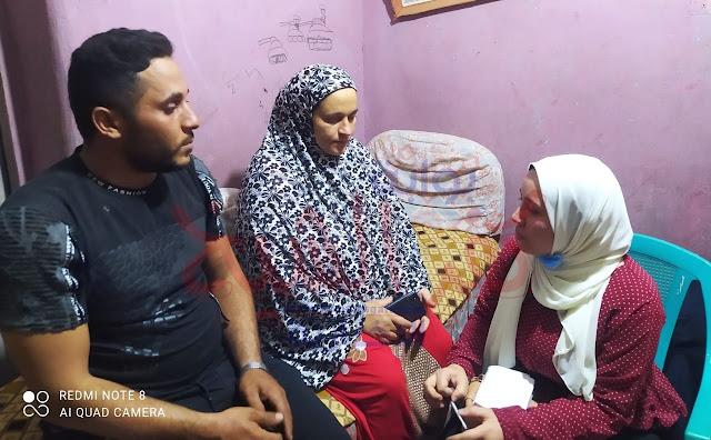 سارة حسن محررة بوابة كفر الشيخ الإخبارية مع ابناء الضحية
