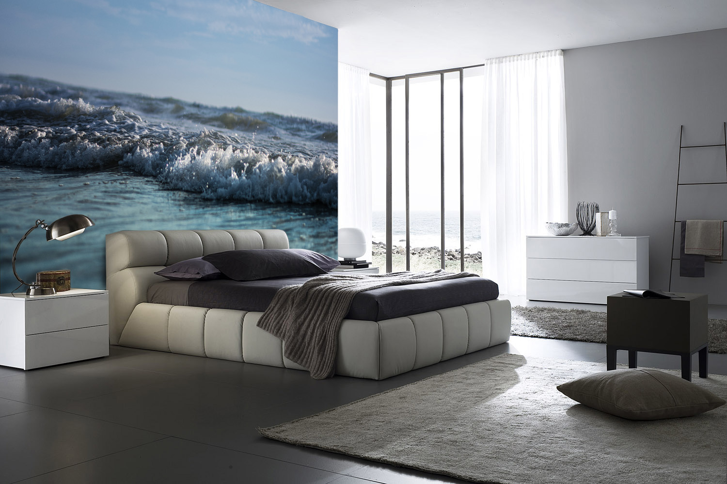 Bedroom at night time - City Wallpaper For Bedroom City Wallpaper Bedroom Cukjati Design
