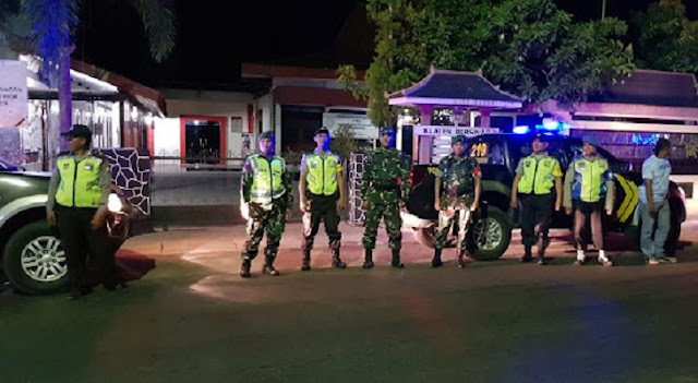 Koramil Dan Polsek Karangdowo Lakukan Patroli Gabungan Blue Light