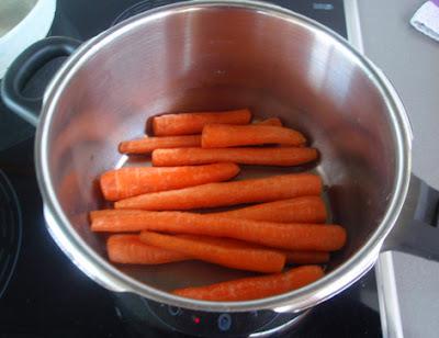 Forma de cocer las zanahorias