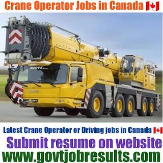 Crane Operator Jobs in Canada 2021-22