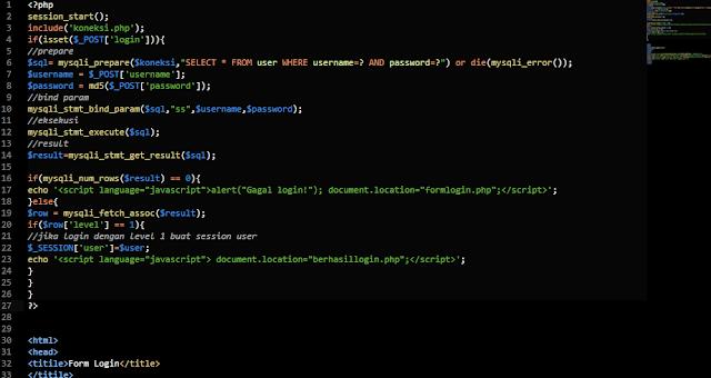 Membuat Proses Login Menggunakan Satu File PHP