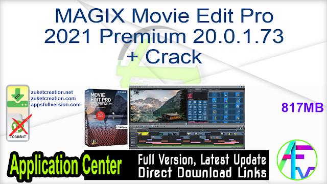 MAGIX Movie Edit Pro 2021 Premium 20.0.1.73 + Crack