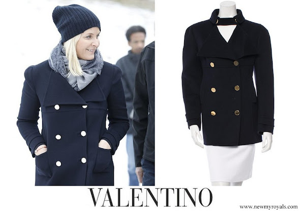 Crown Princess Mette-Marit wore VALENTINO Coat