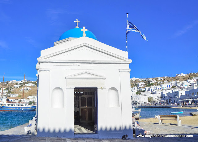 Church in Mykonos Old Port
