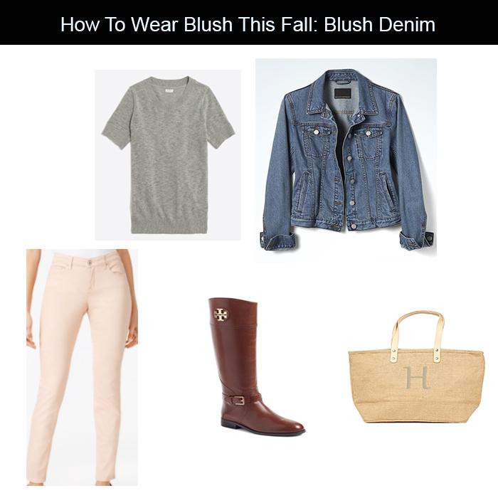 blush denim for fall