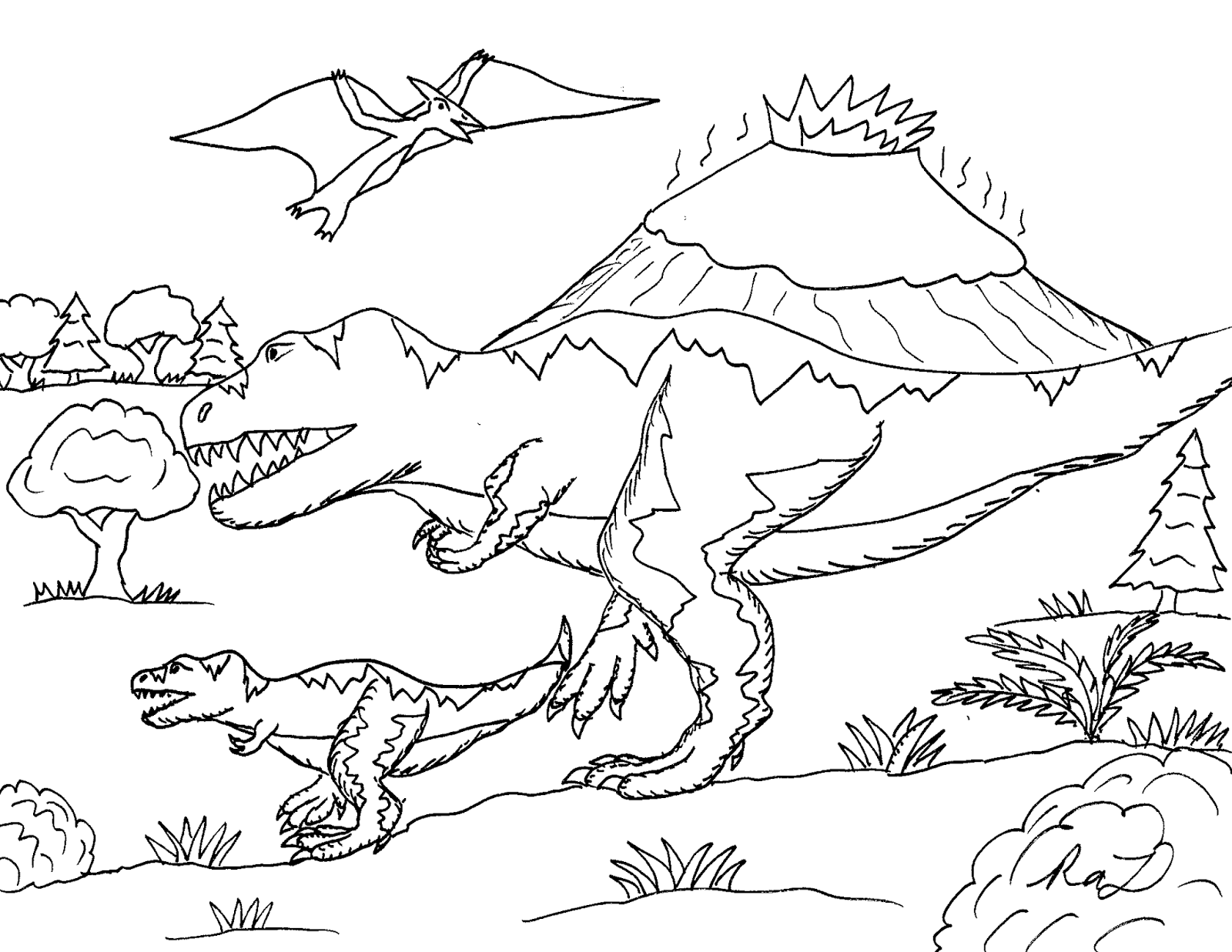 Robin S Great Coloring Pages 3 Cretaceous Dinosaurs